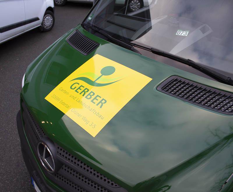 Gerber GalaBau – Vollfolierung Mercedes Sprinter