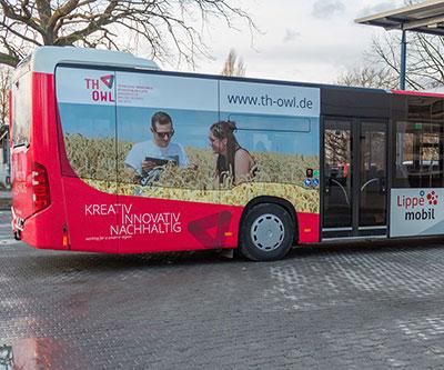 Bus Beschriftung TH OWL