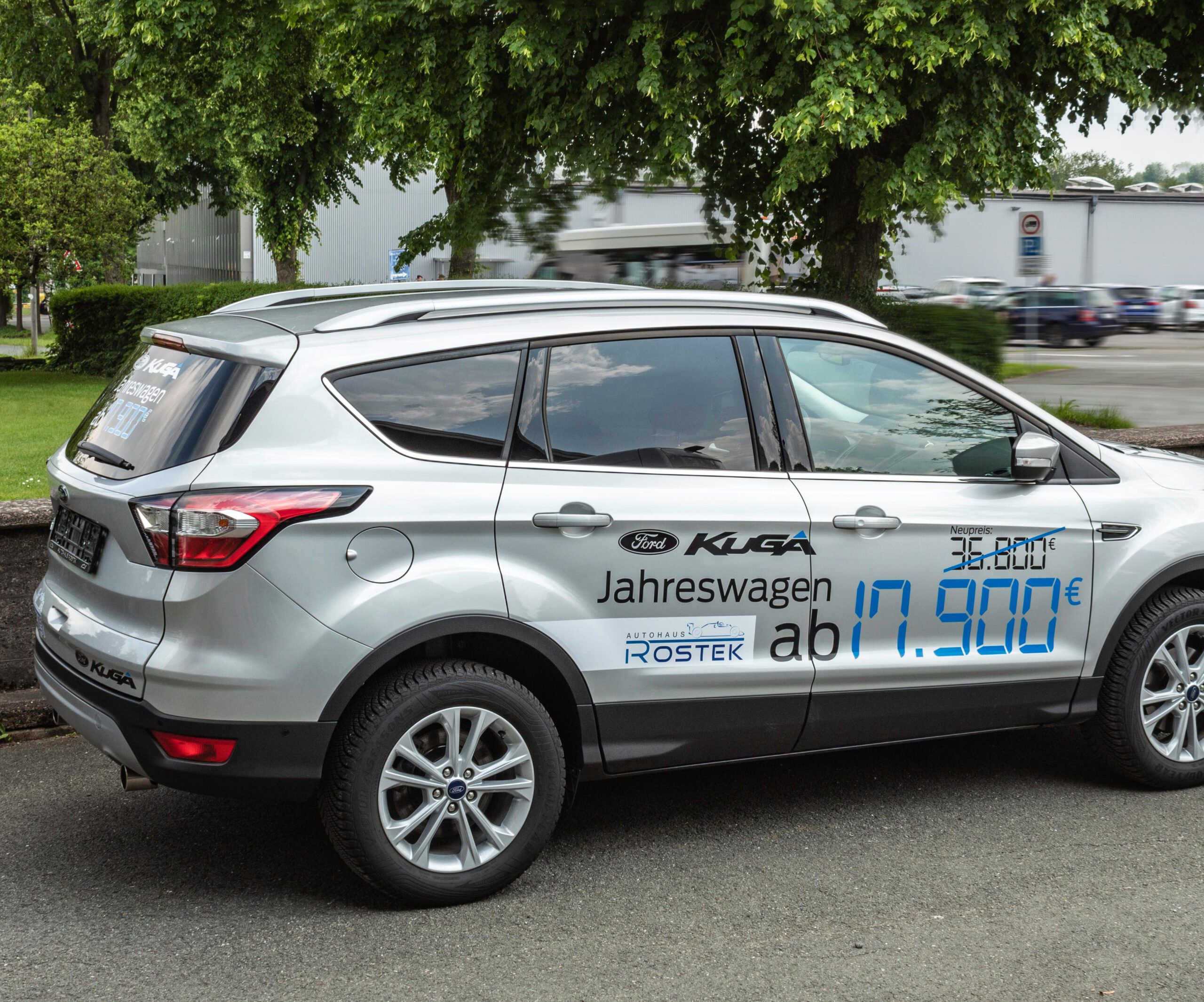 Aktionsfahrzeuge für Autohaus Rostek