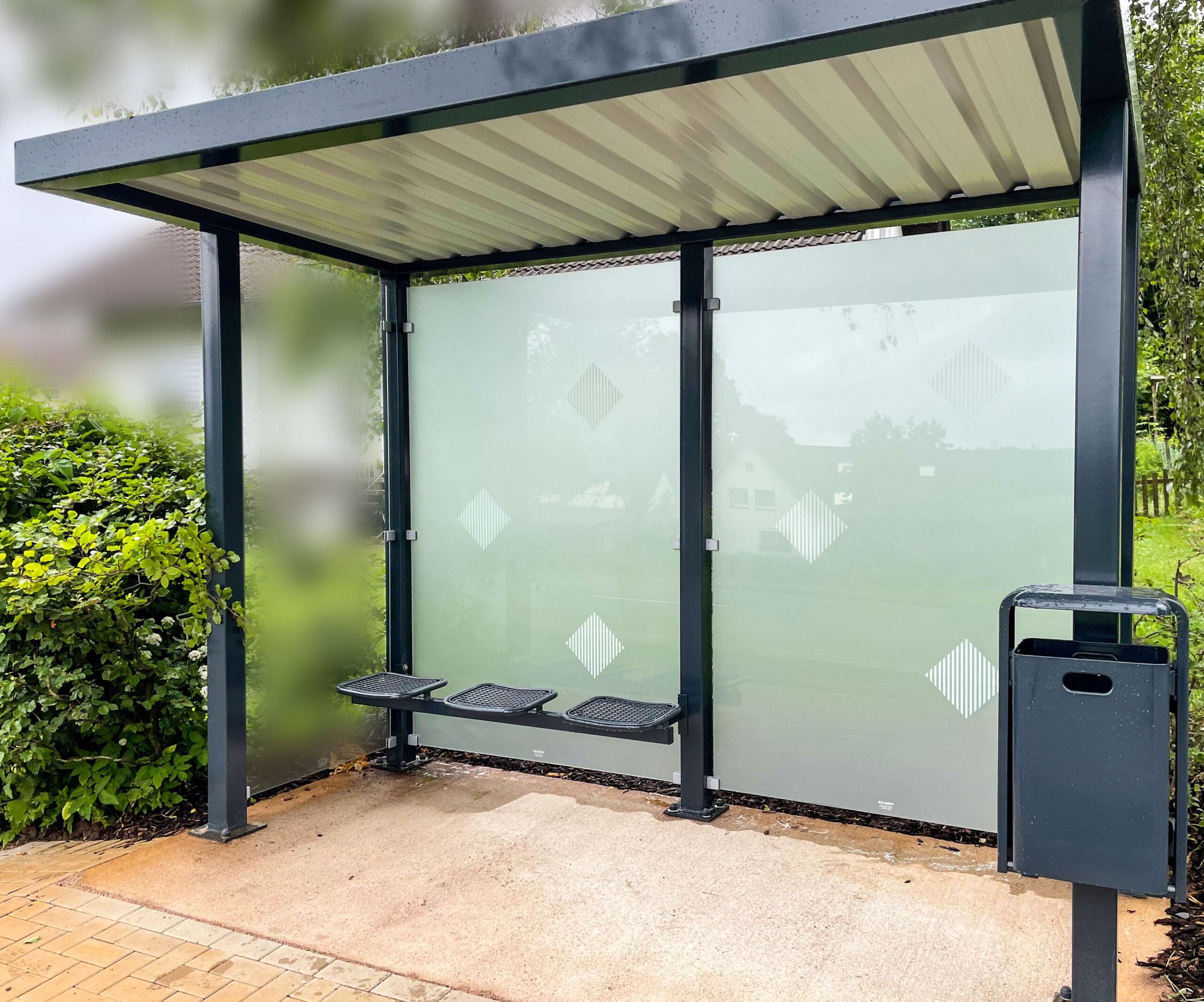 Gemeinde Extertal – Glasdekor Sichtschutz